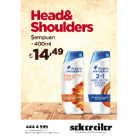 Şekerciler Market En Tazesi, En Lezzetlisi,En Kalitelisi Head & Shoulders Şampuan  400ml