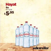 Şekerciler Market En Tazesi, En Lezzetlisi,En Kalitelisi Hayat Su 6x1,5lt