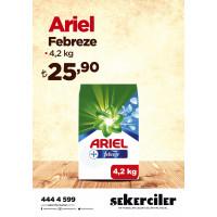Şekerciler Market En Tazesi, En Lezzetlisi,En Kalitelisi Ariel Febreze 4,2 kg