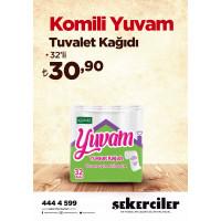 Şekerciler Market En Tazesi, En Lezzetlisi,En Kalitelisi Komili Tuvalet Kağıdı Konfor 32'li