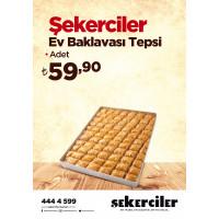 Şekerciler Market En Tazesi, En Lezzetlisi,En Kalitelisi Şekerciler Ev Baklavası Tepsi