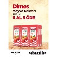 Şekerciler Market En Tazesi, En Lezzetlisi,En Kalitelisi Dimes Meyve Nektarı 200ml 6 AL 5 ÖDE