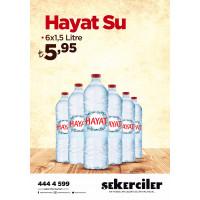 Şekerciler Market En Tazesi, En Lezzetlisi,En Kalitelisi Hayat Su 6x1,5 litre