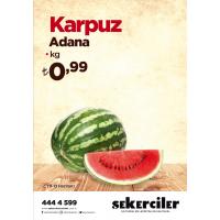 Şekerciler Market En Tazesi, En Lezzetlisi,En Kalitelisi Karpuz Adana Kg
