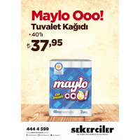 Şekerciler Market En Tazesi, En Lezzetlisi,En Kalitelisi Maylo Ooo! Tuvalet Kağıdı 40'lı