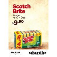 Şekerciler Market En Tazesi, En Lezzetlisi,En Kalitelisi Scotch Brite Sünger 8 Al 4 Öde