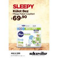 Şekerciler Market En Tazesi, En Lezzetlisi,En Kalitelisi Sleepy Külot Bez MEGA Çeşitleri