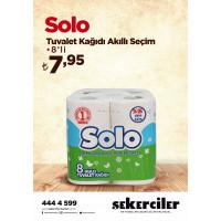 Şekerciler Market En Tazesi, En Lezzetlisi,En Kalitelisi Solo Tuvalet Kağıdı Akıllı Seçim 8'li